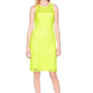 J. Crew Neon Yellow Lace Dress